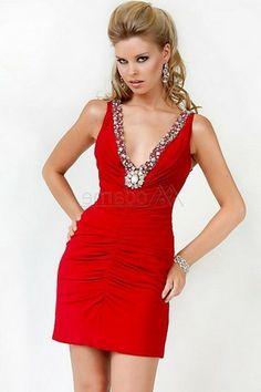 Cocktail dresses v neck short sleeve zipper pleated bodice sleeveless chiffon