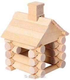 Bartl, Construction Set 31 Teile Blockhaus | 111294