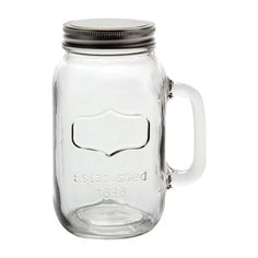 1 Sixteen Ounce Old Fashion Style Mason Craft Jar Mug With Handle and Silver Lid for sale online Old Wine Bottles, Empty Bottles, Wine Bottle Crafts, Jar Crafts, Lemon Essential Oils, Natural Essential Oils, Floating Candle Holders, Mason Jar Mugs, Bath Bomb Ingredients