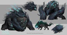 Creature Concept Art, Deities, League Of Legends, Beast, Character Design, Animation, Fantasy, Drawings, Darkness