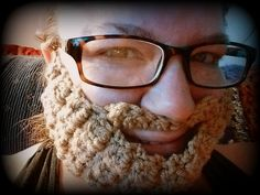See ya at the Beards & Beers I'll be the one with the cool crocheted beard! Crochet Beard, Beards, Fashion, Moda, Fasion, Trendy Fashion, La Mode