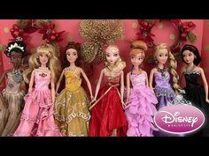 Disney Princesses Robes de Princesses Poupées Barbie Dolls Dresses Noël 2015 Madame Récré - YouTube