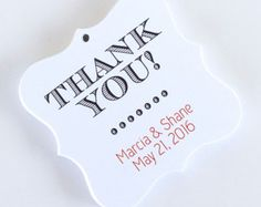 Miniature Personalised Gift Tags Wedding Favor Thank