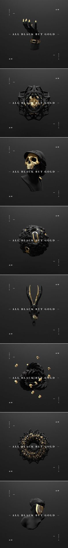 Love the black and gold in this. Also the minimal/modern design feel of the text