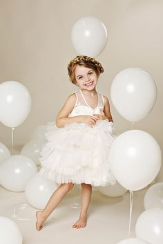 Warning: an extreme cute-fest ahead! These handmade flower girl dresses from Fattie Pie for toddlers and babies are of the melt-in-your-mouth variety – just too sweet to handle. . Tulle Flower Girl Dresses by Fattie Pie. More: http://www.confettidaydreams.com/flower-girl-dresses-fattie-pie/