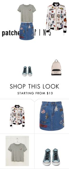 """There's A Sun Behind You."" by didjazaw ❤ liked on Polyvore featuring Sandra Mansour, Marc Jacobs, Bershka, Converse, Balenciaga and patchesandpins"