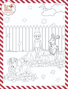 Christmas Coloring Pages Santas North Pole The Elf On The Shelf
