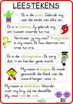 Leestekens Available in Afrikaans only English Grammar Worksheets, 1st Grade Worksheets, Tracing Worksheets, Afrikaans Language, Phonics Chart, Afrikaans Quotes, Teaching Aids, Teaching Grammar, Preschool Learning Activities
