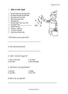 Dit werkblad begrijpend lezen en nog veel meer kun je downloaden op de website van Juf Milou. Primary School, Pre School, Dr Nowzaradan, Learn Dutch, Dutch Language, Pediatrics, Preschool Activities, Spelling, Classroom
