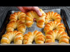 Pamut kiflicskék. Legpuhább kiflicskék tehéntúróval| Cookrate - Magyarország - YouTube