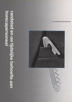 Randstad en uw tijdelijk tekort Brochure, Randstad, Photo by Ad van Denderen and Tjeerd Frederikse, 1990