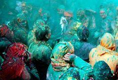 Holi festival - Blue