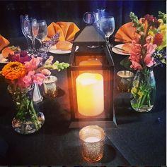 #tablescape #wildflowers #candles #lanterns #mercuryglass #design #cinderella4aday cinderella4aday.com