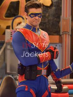 We are proudly presenting the latest addition in our outfits' family, the Henry Danger Tv Series Captain Man Costume Jacket. Book your order now to get it in your possession. Top Halloween Costumes, Boy Costumes, Super Hero Costumes, Disney Halloween, Baby Halloween, Henry Danger Costume, Capitan Man, Stylish Men, Men Casual