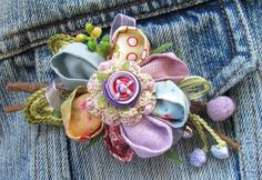 ** Fabric Flower Brooch Made Out Of Fabric Scraps @manifattive