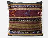 24x24 garnish kilim pillow arrow throw pillow striped decorative pillow burlap cushion cover rustic pillow cover floor pillow case red 24379