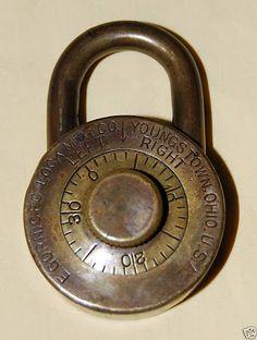 Vintage Antique Yale Amp Towne Y Amp T Brass Or Bronze Lock