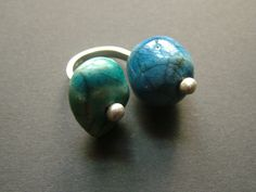 raku ceramic and sterling silver ring