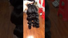 Brazilian loose wave hair bundles ,no shedding and no tangle ,full ends