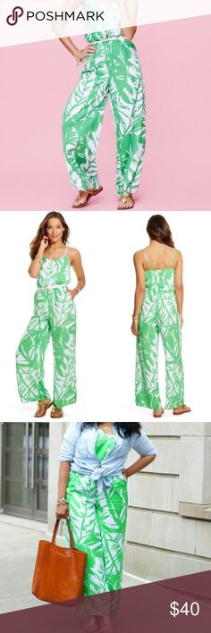 Lilly Pulitzer for Target green boom boom jumpsuit Like new. Maybe worn once. But it looks BNWOT. Size. XL. Adjustable shoulder straps. Beautiful Lilly Pulitzer pattern. Lined! Lilly Pulitzer for Target Pants Jumpsuits & Rompers