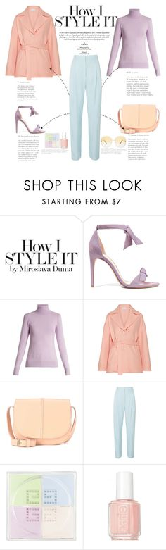 """""""Triad harmony"""" by naki14 ❤ liked on Polyvore featuring Alexandre Birman, JoosTricot, Mansur Gavriel, A.P.C., TIBI, Givenchy, Essie, Chloé, pastel and springtrend"""