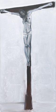'Solo' - 2011 - by Marlene Dumas (South African, b. 1953) - Oil on canvas - 175x87cm.