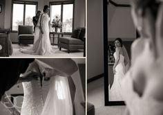 pictures of bride getting her dress on http://corlisandmegangray.com #chicagoweddingphotographers #weddinginspiration #weddingideas #wedding