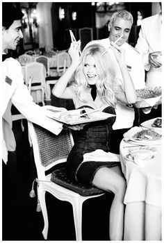 If you charge me this much, I will spear you with my horns! (Claudia Schiffer by Ellen von Unwerth)