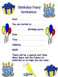 Birthday Invitation Letter - A Birthday invitation letter is written to extend an invitation to a birthday celebration to someone important or special.