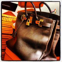 #Hermes HAC 50 cm Brown taurillon