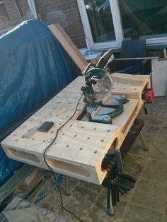 MTI-workbench with a miter saw module.