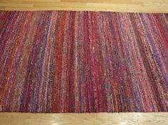 Rugsville Textured Multi Sari Silk 17098 Rug   Silk rugs, Rugsville.com - 4.4 feet x 6.3 feet $1,369.00 (too small and too expensive)
