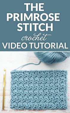 Crochet Tutorial Ideas The Primrose Stitch Crochet Tutorial - This is another very pretty stitch with a lovely texture. The first row creates the bottom part of the shell and the second row creates the fan part of the shell. Crochet Flower Patterns, Crochet Stitches Patterns, Knitting Stitches, Stitch Patterns, Crochet Flowers, Crochet Blanket Stitches, Shawl Patterns, Crochet Gifts, Crochet Yarn