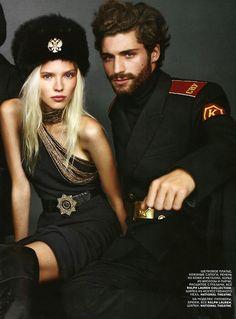 handsome russian man in uniform