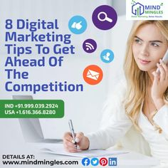 8 #DigitalMarketing #Tips To Get Ahead Of The #Competition 1. Know Your #Competitors 2. Know Your #Customers 3. Create a Robust #Digital #Marketing #Strategy . . Email: - info@mindmingles.com WhatsApp or Call: +91.999.039.2924   USA +1.616.366.8280 #Like #Follow #Love #SEO #SMO #Instagram #Youtube #Facebook #Twitter #LinkedIn #MindMingles #Branding #India #Delhi #Business #Google Best Digital Marketing Company, Seo, Competition, Branding, How To Get, India, Facebook, Create, Twitter