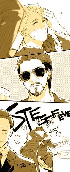 Tony/Steve: Do not disturb Captain 2 by mixed-blessing.deviantart.com