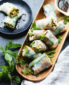 Grilled Asparagus Tofu Spring Rolls with Ginger-Lime Dipping Sauce // Bojon Gourmet Vegan Asparagus Recipes, How To Cook Asparagus, Grilled Asparagus, Vegan Recipes, Detox Recipes, Vegan Meals, Vegan Food, Vegan Spring Rolls, Fresh Spring Rolls