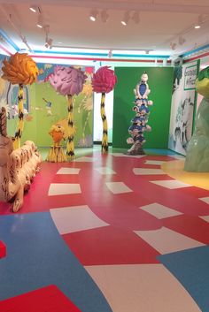 Another great shot of the new Dr. Seuss Museum in Springfield, completed by @higginsflooringspecialist using VCT Imperial Excelon in a variety of bright colors!  Commercial flooring used in museum design - at it's finest! What a great example of what commercial flooring can do in the right creative hands.
