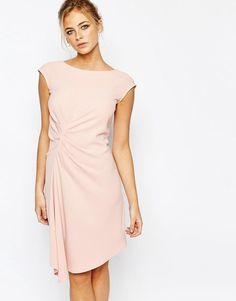 Closet London | Closet Midi Dress with Cap Sleeve and Gathers at ASOS