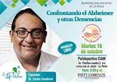 """DR CARLOS SANDOVAL""""CONFRONTANDO EL ALZHEIMER Y OTRAS DEMENCIAS"""" EN LA PERLA.   Central Informativa del Adulto Mayor"""