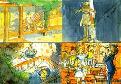 Projet abandonné d'une version de Fifi Brindacier par Miyazaki...