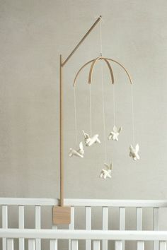 baby crib mobile holder / wooden mobile arm / baby by Patricija