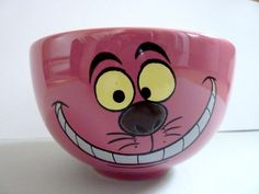 Disney Alice in Wonderland Cheshire Cat Pink Cereal Bowl