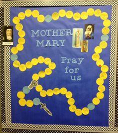 Rosary bulletin board