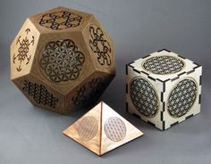 Laser cut geometric designs are awesome to look at. Geometric design screens are modern and stylish. Here are some laser geometry designs. Mathematics Geometry, Geometry Art, Geometric Designs, Geometric Shapes, Sacred Geometry Patterns, Laser Cutter Ideas, Platonic Solid, Spiritus, Math Art
