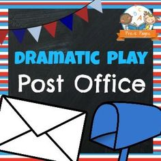 Post Office printables for the dramatic play center in preschool or kindergarten. Easily transform your dramatic play center into a post office.