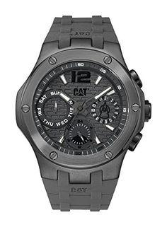 CAT Navigo Multi Men's Watch Gun Dial Gun Silicone Strap A115925535