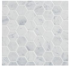 "Ann Sachs Carrara 2"" hex--I would cover every surface in the bath with this!"