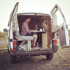 Working on the fonts... For more pics visit my blog: http://ift.tt/1NZG0UT #vanlife #vwt4 #lifeontheroad #eurotrip #france #italy #diy #wood #homeiswhereyouparkit #thenewrich by x.toph