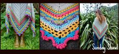 Soft, Snugly, Sunday Shawl... Get the pattern at thelittlebee.co.nz Crochet Shawl, Scarfs, Fun Crafts, Projects To Try, Bee, Sunday, Wraps, Collage, Colour